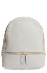 Girly Faux Leather Mini Zip Backpack Grey