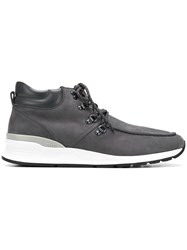Tod's Lace Up Boots Grey