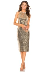 Misha Collection Amya Dress Metallic Gold
