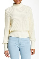 American Apparel Mock Neck Knit Pullover White