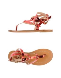 Space Style Concept Thong Sandals Red