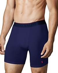 Polo Ralph Lauren Supreme Comfort Long Boxer Briefs Pack Of 2 Cruise Navy