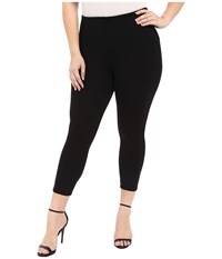 Lysse Plus Size Mindy Zip Crop Black Women's Casual Pants