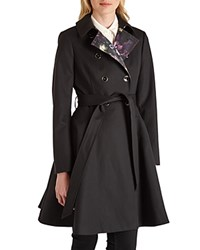 Ted Baker Maquila Flared Trench Coat Black