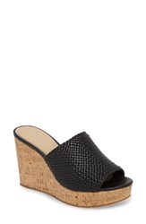 Etienne Aigner Daiquiri Wedge Mule Black Leather