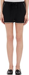 Sea Crepe De Chine Track Shorts Black Size 0 Us
