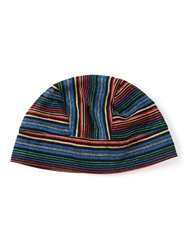 Biba Vintage Striped Cloche Hat Multicolour