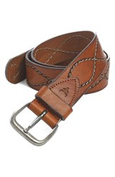 Men's Big And Tall Trask 'Shilo' Belt Saddle Tan Steer