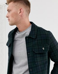 Farah Laurie Check Melton Wool Jacket In Navy