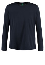 United Colors Of Benetton Long Sleeved Top Navy Dark Blue