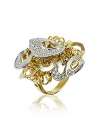 Orlando Orlandini Fashion Diamond 18K Gold Charm Ring