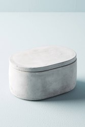Anthropologie Sedra Cement Bathroom Canister Grey