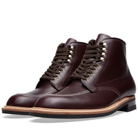 Alden Indy Boot Burgundy Calfskin And Gold