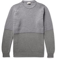 John Smedley Merino Wool And Cashmere Blend And Sea Island Cotton Sweater Gray