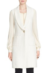 Women's St. John Collection 'Yani' Shawl Collar Knit Vest