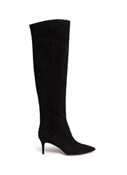 Gianvito Rossi Knee High Suede Stiletto Boots