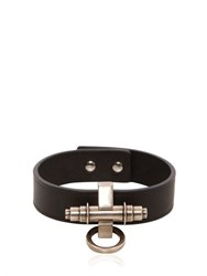 Givenchy Obsedia Leather Cuff Bracelet