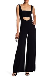 Nicole Miller Sleeveless Cutout Jumpsuit Black