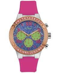 Guess Women's Pink Silicone Strap Watch 44Mm U0772l4