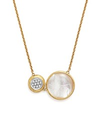 Marco Bicego 18K White And Yellow Gold Jaipur Pendant Necklace With Mother Of Pearl And Diamonds 16 100 Bloomingdale's Exclusive White Gold