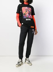 Heron Preston Printed Track Pants Black