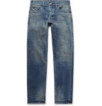 Fabric Brand And Co Rake Distressed Stretch Denim Jeans Mid Denim