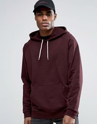 Asos Oversized Hoodie In Burgundy Oxblood Red