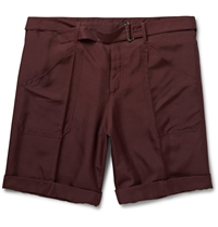 Valentino Burgundy Cotton Canvas Shorts
