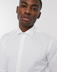 Ted Baker Smart Shirt With Wedding Design In White