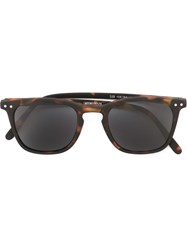 See Concept Tortoise Shell Square Sunglasses Brown