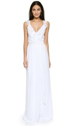 Joanna August Lacey Ruffle Wrap Dress White Wedding