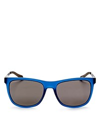 Hugo Boss Polarized Square Sunglasses 54Mm Matte Blue