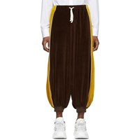 Gucci Brown Chenille Harem Lounge Pants