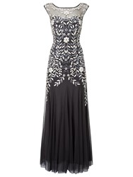 Phase Eight Collection 8 Sabine Tulle Dress Charcoal Multi