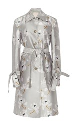 Brock Collection Caia Escapade Silk Blend Coat Floral