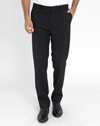 Ikks Black Classic Lined Trousers With Bd Belt