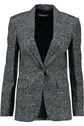 Michael Kors Collection Printed Wool Blend Blazer Gray