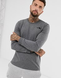 The North Face Simple Dome Long Sleeve T Shirt In Grey