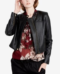 Rachel Roy Quilted Cropped Moto Jacket Created For Macy's Black