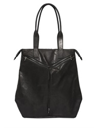 Julius Zipped Leather Shopping Bag