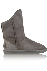 Australia Luxe Collective Cosy Shearling Lined Suede Boots Gray