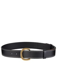 Sonia Rykiel Black And Tan Leather Buckle Belt