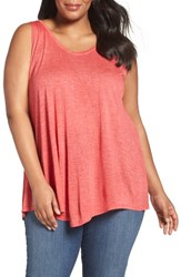 Sejour Plus Size Women's Triangle Knit Tank