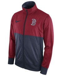 Nike Men's Boston Red Sox Track Jacket Red Navy