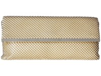 Jessica Mcclintock Kandi East West Ball Mesh Clutch With Bar Treatment Light Gold Clutch Handbags