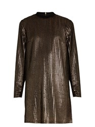 House Of Holland Chain Mail Knit Dress Gold