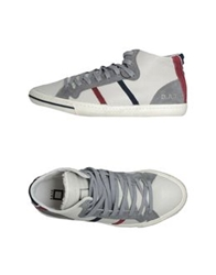 D.A.T.E. High Top Sneakers Dove Grey