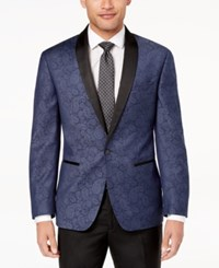 Ryan Seacrest Distinction Men's Modern Fit Navy Paisley Dinner Jacket Created For Macy's