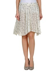 Boy By Band Of Outsiders Skirts Knee Length Skirts Women Ivory