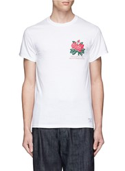 Bedwin And The Heartbreakers 'Ralph' Rose Print T Shirt White